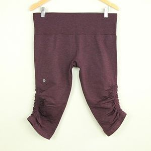 Lululemon In the Flow crop II Heathered Bordeaux